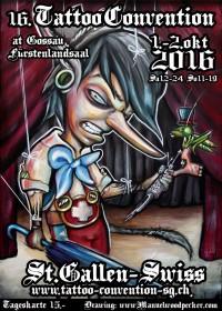 16. Tattoo-Convention St.Gallen (Gossau) 1.-2.Okt 2016